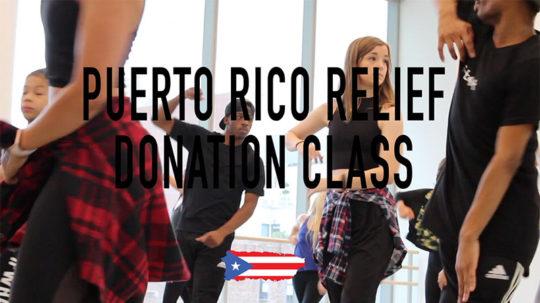 Puerto Rico Donation Class at Alvin Ailey